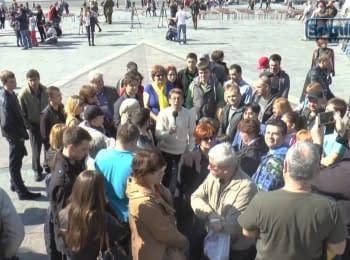 Українці звернулися до Росіян. Київ, Майдан Незалежності, 11.04.15