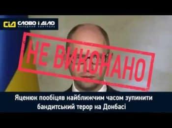 """""""Слово і діло"""": Обіцянки прем'єр-міністра Яценюка. Рік АТО"""