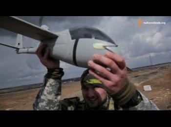 """Батальон """"Днепр-1"""" запускает беспилотники-шпионы на Донбассе"""