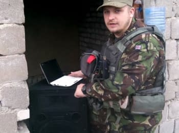 Бойцы 92-й бригады оказывают психологическое давление на террористов в Трехизбенке