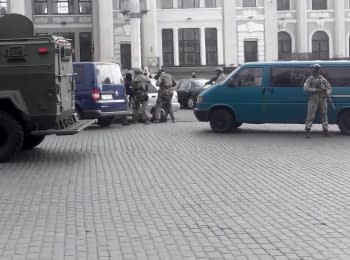 """The detention of the separatists in Odessa by soldiers of """"Alpha"""", 30.04.15"""