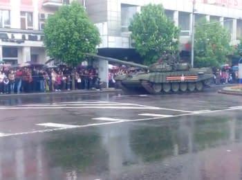 Парад к 9 мая в Донецке