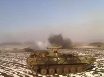 Breakthrough of a column of ukrainian militaries from Debaltseve