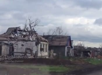 Completely destroyed village Nikishyne at the Donbas, 13.05.2015