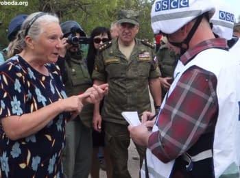 Жительница Саханки недовольна работой ОБСЕ и российского генерала