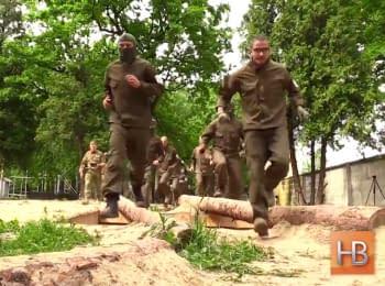"Training of recruits of ""Azov"" regiment"
