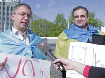 Social activists from Ukraine, Georgia and Moldova held a rally in Riga