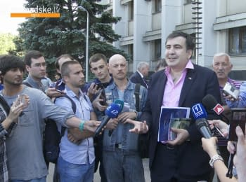 The first interview of Mikheil Saakashvili as chairman of the Odessa Regional State Administration