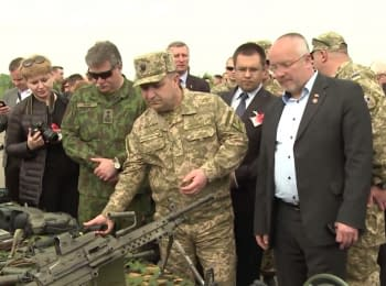 "Defense Minister of Ukraine Stepan Poltorak at military drills ""Burning Sword-2015"" (Lithuania)"