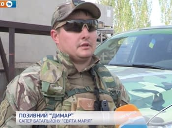 Battalions of the Interior Ministry in sector A at the Luhansk region