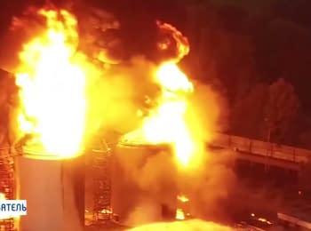 Пожежа на нафтобазі Київ