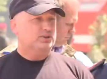 Турчинов: Пожежа у Василькові несе загрозу через бойовий арсенал