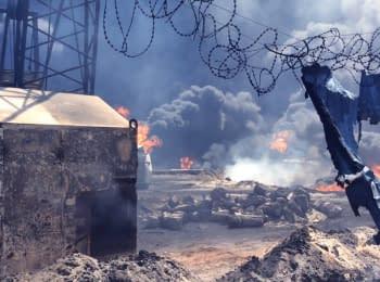 Відео пожежі з самої території нафтобази у Василькові