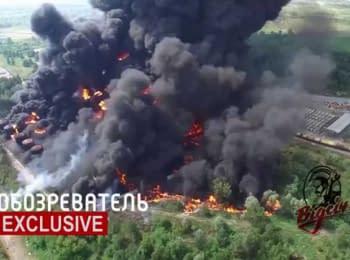 Пожежа на нафтобазі під Києвом. Наслідки
