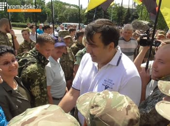 Mikheil Saakashvili met with patriotic organizations in Odessa