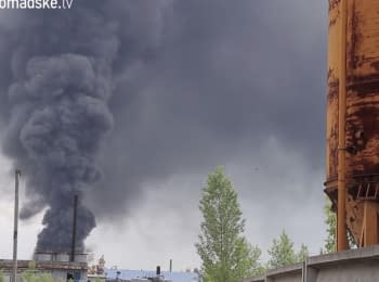 Fire at the fuel depots in Vasylkiv - day fourth