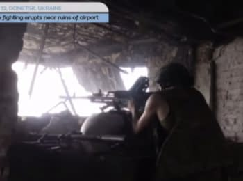 East Ukraine conflict: Fierce fighting near ruins of Donetsk airport