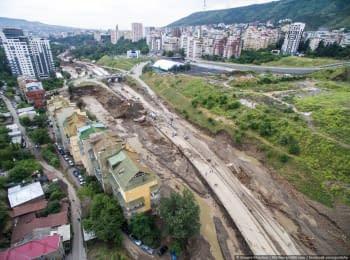 Повінь в Тбілісі. Відео з безпілотника