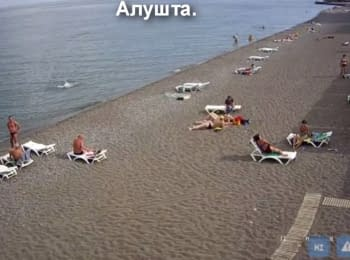 Video from webcams at Crimean beaches, 15.06.2015