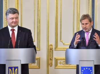 Statements by the President of Ukraine Petro Poroshenko and European Commissioner Johannes Ghana