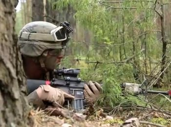 Joint training of Lithuanian Armed Forces and US Marines