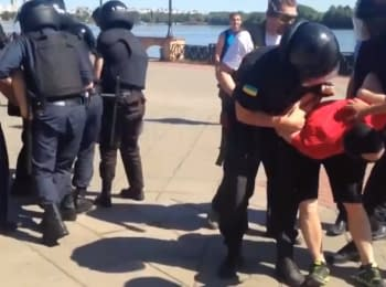 """""""Project REALITY"""": Police protect gay from the right-wing radicals in Kyiv"""