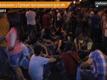 Protesters in Yerevan held out all night