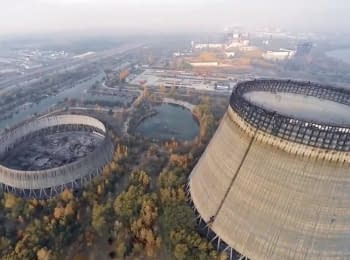 Chernobyl NPP after almost 30 years since the disaster (view from the air)