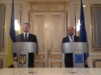 Встреча Президента Порошенко с Президентом Европарламента М. Шульцем