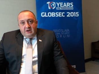 Georgian President Margvelashvili about relations with Russia, Ukraine and Saakashvili's assigning