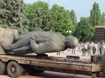 Lenin dismantled in Artemivsk
