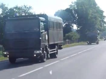 Military equipment moving toward Mukacheve