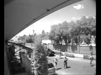 The beginning of the conflict in Mukacheve. Video from surveillance camera