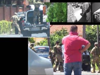 """Компиляция кадров инцидента с """"Правым сектором"""" в Мукачево"""