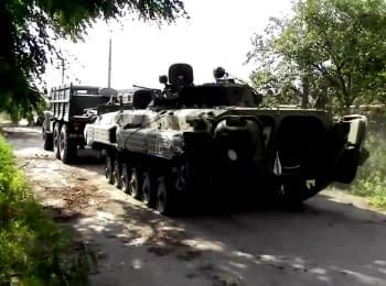 "Бойцы батальона ""Донбасс"" отбили БМП-2 у боевиков"