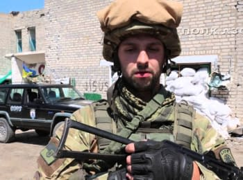 "Soldiers of the regiment ""Azov"" commented on the Lavrov's request to withdraw Ukrainian troops from Shyrokyne, 19.07.15"