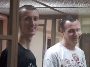 Сєнцов і Кольченко в залі суду