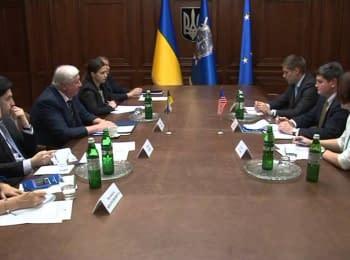Встреча генпрокурора Виктора Шокина с представителями посольства США