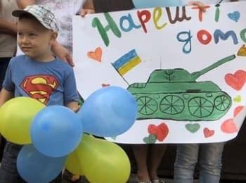 В Житомир из Луганской области вернулись 100 милиционеров