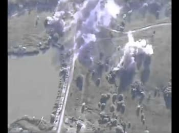 The shelling of positions of the Armed Forces of Ukraine. Video from terrorists' UAV, 01.08.15