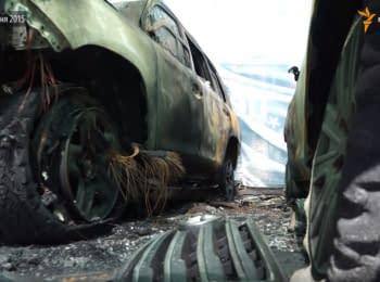 В Донецьку спалили автомобілі ОБСЄ