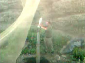 Видео з мобільного телефону затриманого бойовика