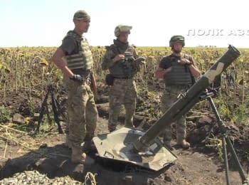 """Артиллерийские учения полка """"Азов"""" на полигоне"""