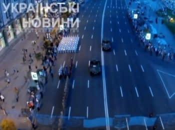 Вечерняя репетиция военного парада в Киеве, 22.08.15