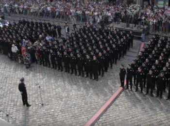 Lviv' new police swore allegiance to the Ukrainian people