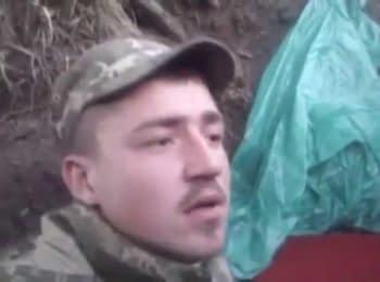 Украинский военный заснял момент взрыва снаряда рядом с ним