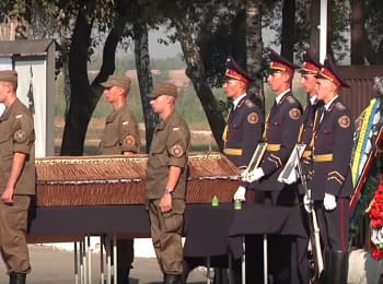 Farewell to a soldier of the National Guard Igor Debrin