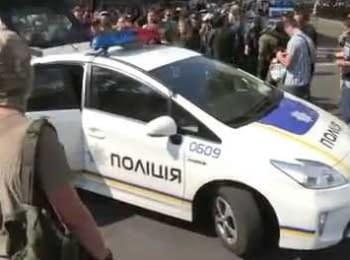 Патрульна поліція допомагає біля Верховної Ради, 31.08.2015