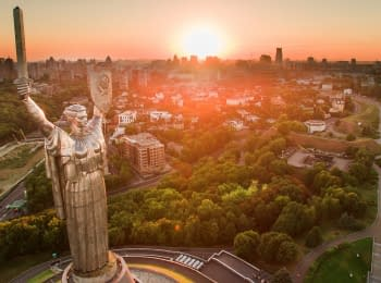 Iconic places of Kyiv bird's-eye view