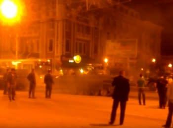 Танки на площі ім.Леніна в Донецьку, 17.09.2015